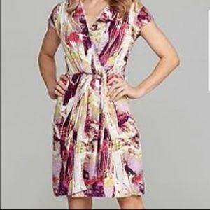 NWT Antonio Melani Jackie Wrap Dress Size 2 Pink